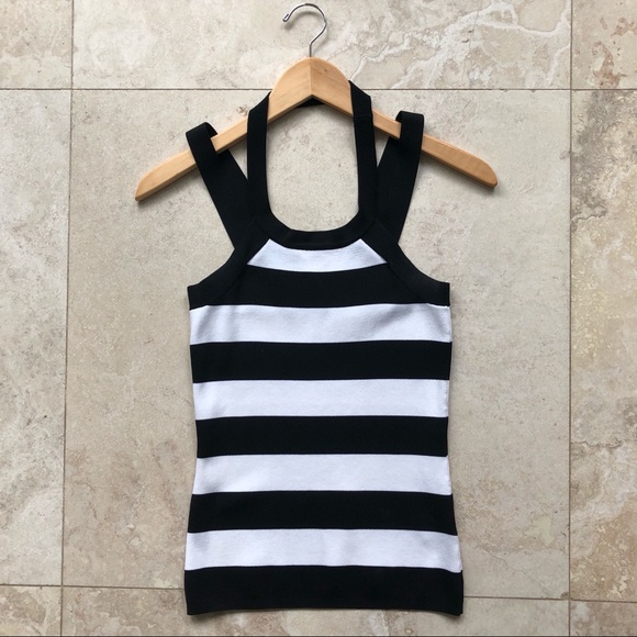 Cache Tops - Caché Striped Halter Tank